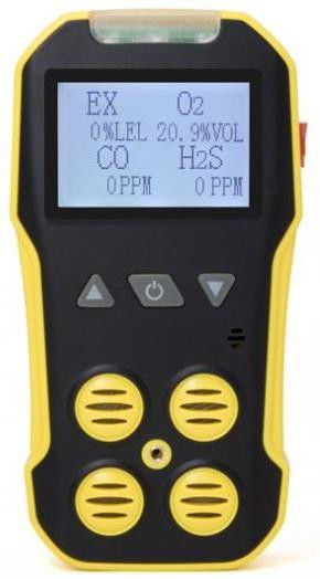Lightweight 4 In 1 Portable Multi Gas Detector Toxic Gas Detector With LCD Display